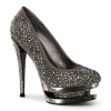 FASCINATE-685DM Grey Suede/Pewter Chrome